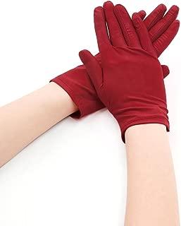 Allegra K Women Wrist Length Matte Full Finger Stretchy Gloves 5 Pairs