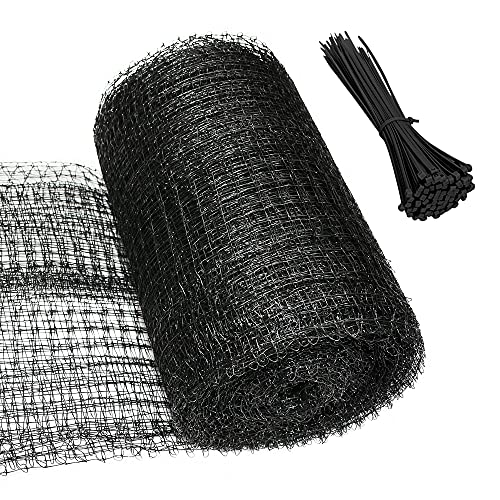 Gardzen 6.8ft x 30ft Bird Netting, Heavy Duty Roll Net with 20pcs Cable Ties, Garden Protector for Grapevine Blueberry Strawberry Vegetable Tree