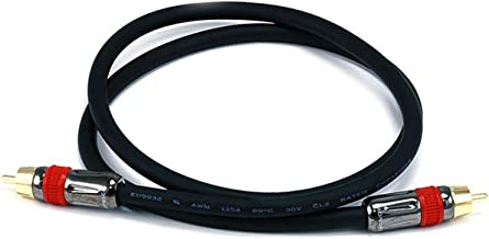 Monoprice 102681 3-Feet RG6 RCA CL2 Rated Digital Coaxial Audio Cable Black