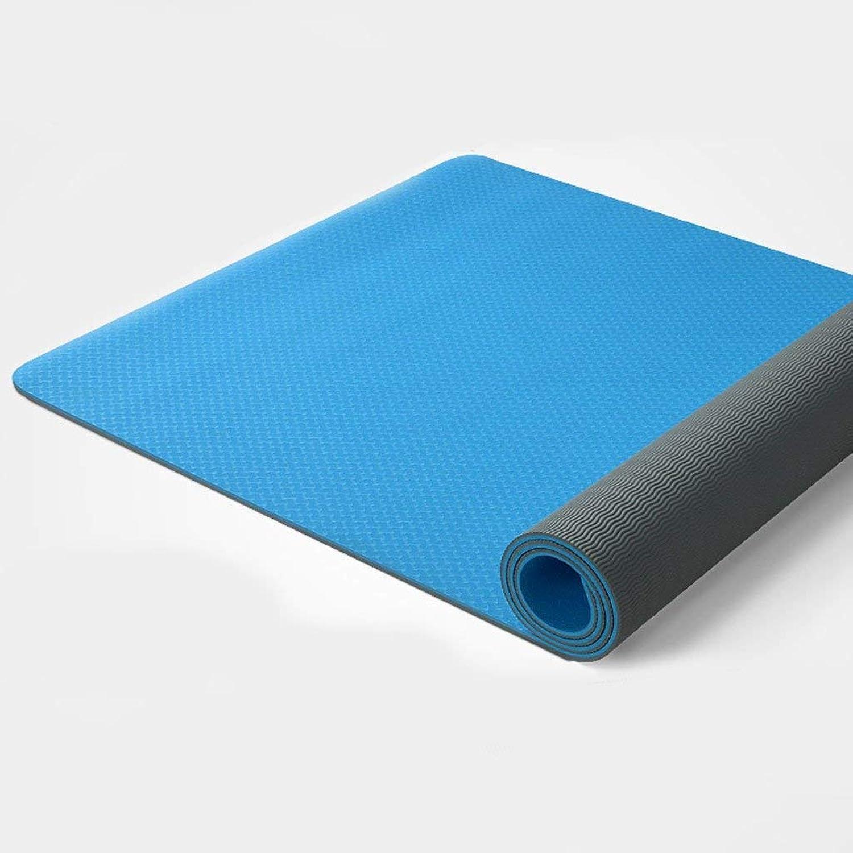 GNXIA Home Yogamatte, professionelle Yogadecke, Rutschfeste Trainingsmatte Fitnessmatte (Farbe   B)