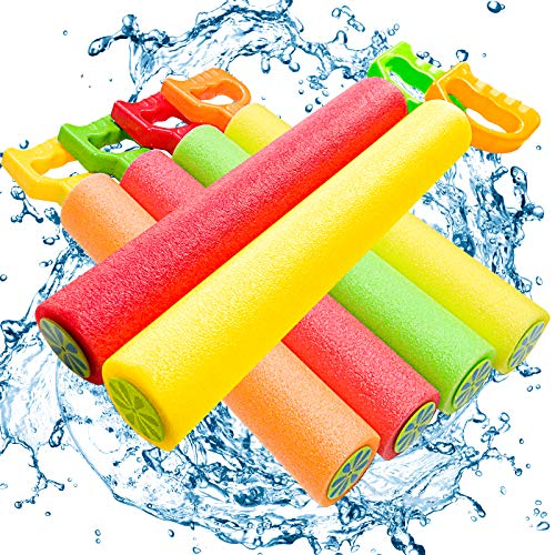 ToyerBee Water Gun, 6 Pack Water Guns for Kids-Pool Toys-Shoots Up to 35 Ft, Water Blaster Squirt, Water Cannon for 4.5.6.7 Year Old Boys& Girls& Adults, Pools Party& Water Toys