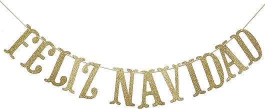 Best Feliz Navidad Banner, Sign, Navidad, Mexican Christmas, Southwest Christmas, Spanish Christmas Garland, Holiday Banner, Christmas Decor (Gold) Review