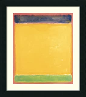 Framed Wall Art Print Untitled (Blue, Yellow, Green on Red), 1954 by Mark Rothko 36.75 x 41.75