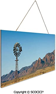 UHOO Gift Wooden Hanging Plaque Sign Flinders Ranges South Australia Mountains Barren Land Summer Decorativ Wood Tag Hanging Ornament Decoration Home Tag Decoration 9.8