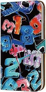 Xperia A4 SO-04G 用 スマホケース 手帳型 カードタイプ [キャンディロゴ・黒ブルー系] ロリポップ ペイント ナンバーズ SONY ソニー エクスペリア エースフォー docomo 携帯ケース けーたいカバー カード収納 スタ...