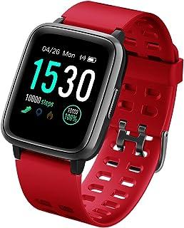 Pulsera Actividad Reloj Inteligente Impermeable IP68 Smartwatch Pantalla Táctil Completa con Pulsómetro Cronómetro Pulsera Deporte para Hombres Mujeres Niños con iOS y Android