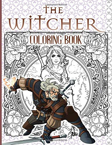 The Witcher Coloring Book: The Witcher Nice Coloring Books For Adult And Kid (Unofficial Book)