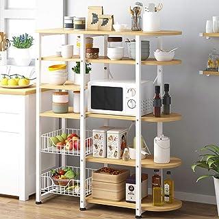 Équipement pour la maison Grille à micro-ondes Cadre en métal Cuisine Support à micro-ondes Support à micro-ondes 6 niveau...