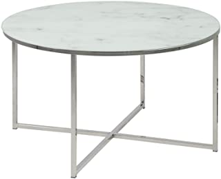 Amazon Brand - Movian Rom - Mesa de centro 80 x 80 x 45 cm blanco
