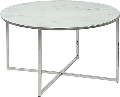 Marque Amazon - Movian Rom - Table basse, 80 x 80 x 45 cm, Blanc