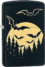 Zippo Lighter: Bats and Full Moon, Engraved - Black Matte 78054