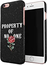 Property of No One Crimson Red Rose Inked Tattoo Hard Thin Plastic Phone Case Cover For iPhone 6 Plus & iPhone 6s Plus