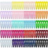 HBselect 120 pezzi Mollette Capelli Bambina Tinta Unita 5 cm Fermagli per Capelli in Metallo Durevole Accessori Capelli Bambina