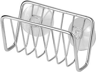 InterDesign Rondo soporte para jabones artesanales | Accesorios de cocina para almacenar esponjas de baño, jabón, etc. | El accesorio ideal con ventosas | Acero cromado