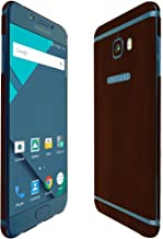 Skinomi Dark Wood Full Body Skin Compatible with Samsung Galaxy C5 Pro (Full Coverage) TechSkin with Anti-Bubble Clear Fil...