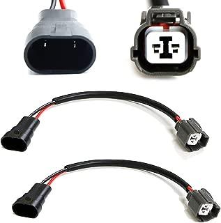 iJDMTOY (2) 9005/9006 Retrofit Adapters/Power Cord Wires For Acura Honda Mitsubishi Mazda OEM HID Xenon Ballast Units