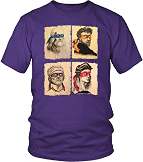 Funny Italian Renaissance Ninja Artists Parody Unisex Shirt Plus Size XL - 4XL