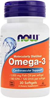 Now Foods Omega-3 Molecularly Distilled - 30 Softgels