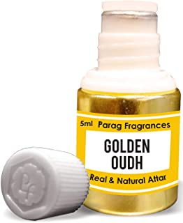 Parag Fragrances Golden Oud Attar 5ml (Alcohol Free Long Lasting Attar For Men or Religious Use) Traditional Bhapka Proces...