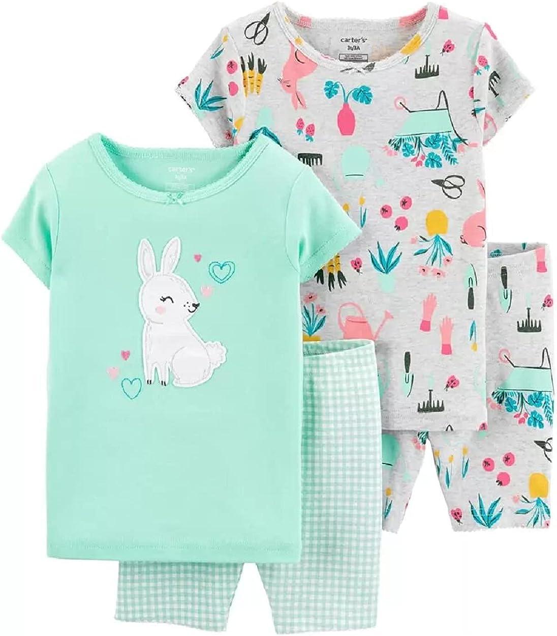 Carter's 4-Piece Bunny 100% Snug Fit Cotton PJs (24 Months)