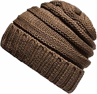 Ausexy_ Thick Warm Winter Beanie Hat for Men and Women Warm Knit Hats Slouchy Thick Skull Cap