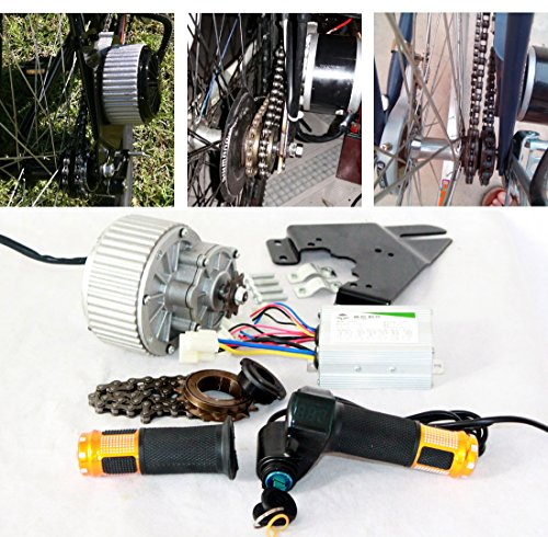 450W bicicleta electrica motor barato económico kit fácil de bricolaje e - bike Ebike conversion kit Electric Bike Side Mounted...