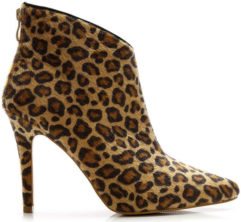 Beast Fashion Ellen-01 Pointy Toe Stiletto Heel Suede Ankle Booties