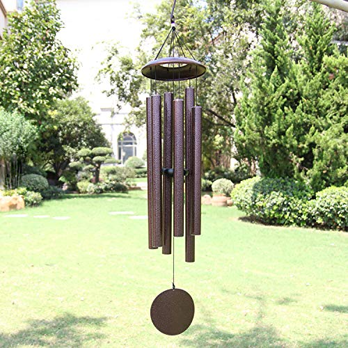 ASTARIN Wind Chimes Outdoor Deep Tone, 45 in Memorial Wind Chimes Large with 6 Heavy Tubes, Large Deep Tone Wind Chimes Outdoor for Garden Hanging Décor,Sympathy Gifts. Bronze