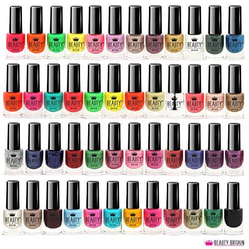 Set De 48 Esmalte De Uñas 48 Colores Diferentes Botella Moderna De 5 ml