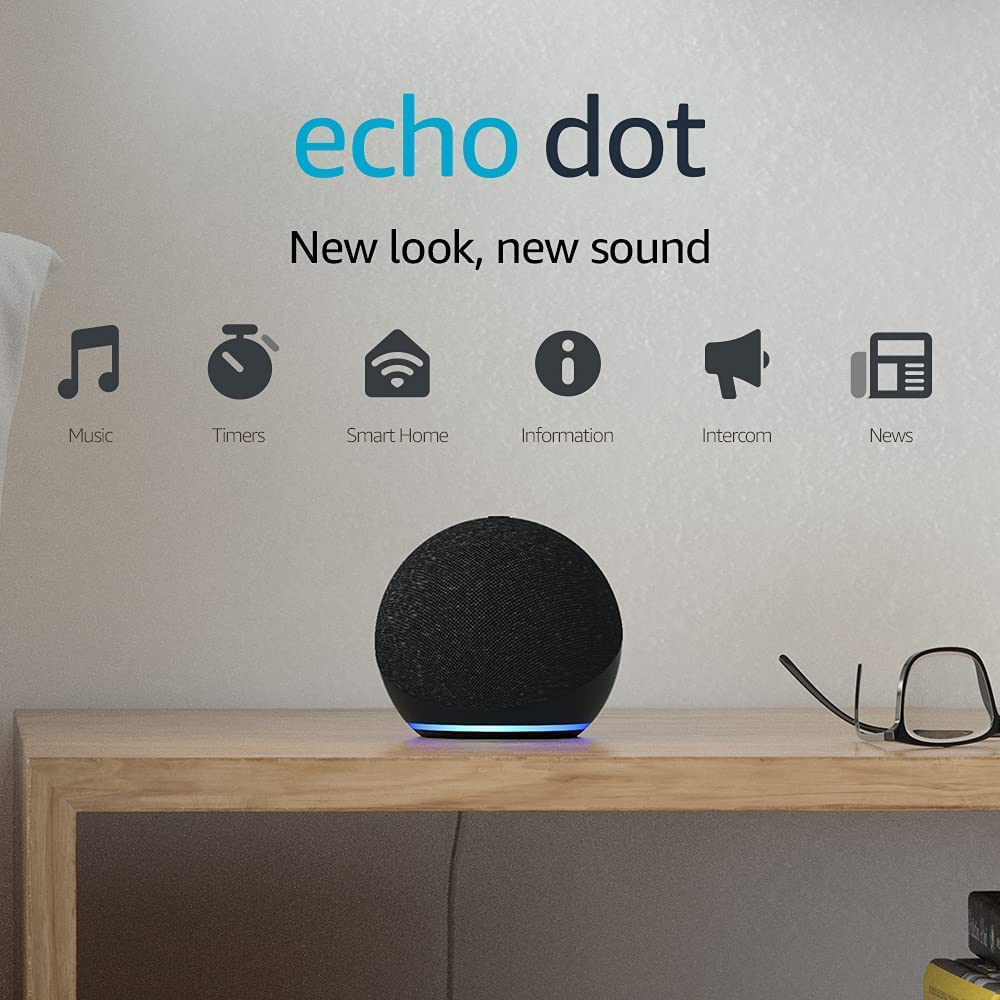 All-new Echo Dot (4th generation)   Smart speaker with Alexa   Charcoal