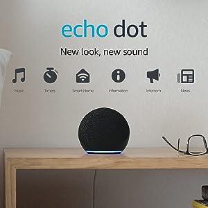 Echo Dot (4th generation) | Smart speaker with Alexa | Charcoal