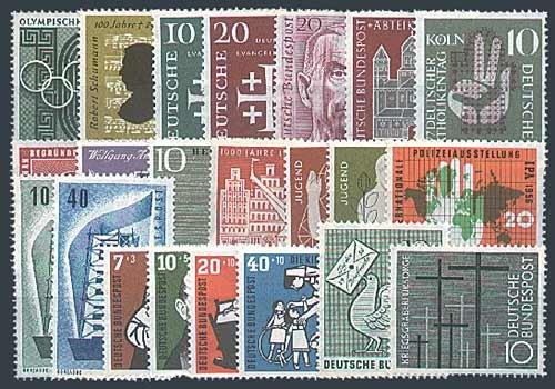Goldhahn BRD Bund Jahrgang 1956 postfrisch ** MNH komplett Briefmarken für Sammler