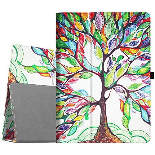 Fintie Folio Case for iPad Pro 12.9 (2nd Gen) 2017 / iPad Pro 12.9 (1st Gen) 2015 - [Corner Protection] Premium PU Leather Smart Stand Protective Cover with Auto Sleep/Wake (Love Tree)