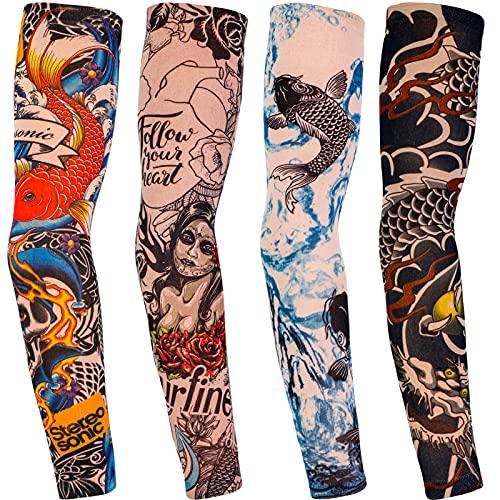 Qpout Brazo tatuajes mangas cubierta para hombres...