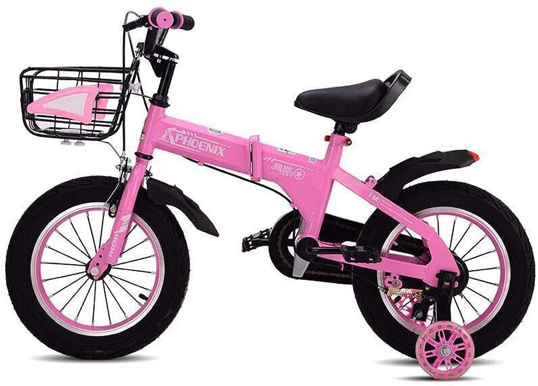 Bxiao Kinder-Faltrad, 2-10 Jahre altes Babyfahrrad, Diamond Frame mnnliches und weibliches Fahrrad