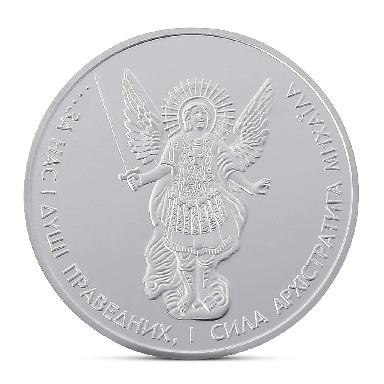 liumiKK Commemorative Coin Ukrainian Archangel Collection Arts Gifts Souvenir