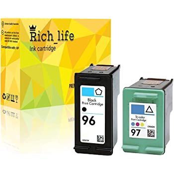 1 Black, 1Color Rich/_life Remanufactured Ink Cartridge Replacement for HP27 HP 27 C8727AN HP28 HP 28 C8728AN Compatible HP Printer Deskjet Officejet FAX 1240 PSC 2 Pack