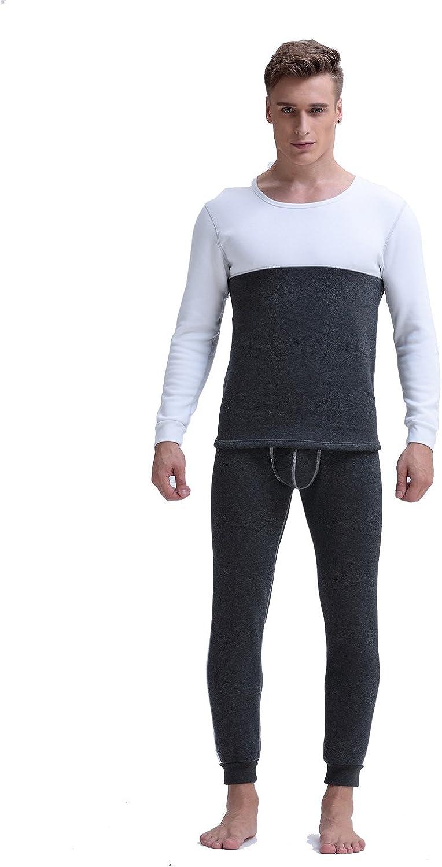 LKXHarleya 2pc Men's Thermal Cotton Soft Slim Long Johns Underwear Set