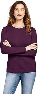 Women's Petite Relaxed Supima Cotton Long Sleeve Crewneck T-Shirt