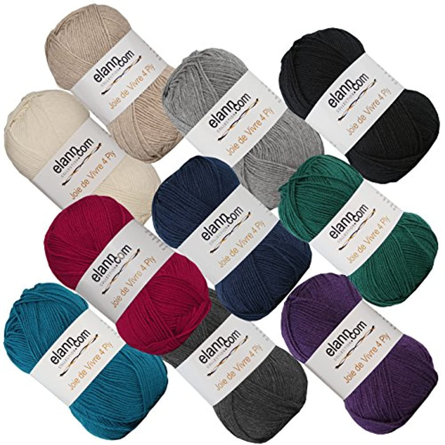 elann Joie de Vivre 4 Ply Yarn | 10 Ball Bag | 11 Assortment Pack