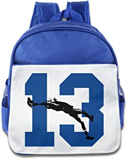 Ysov OBJ 13# NO.13 Football Little Kid Preshool School Bag RoyalBlue