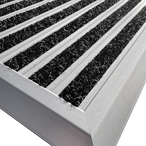 Nicoman Felpudo de Aluminio con Barrera antisuciedad (60 x 40 cm)