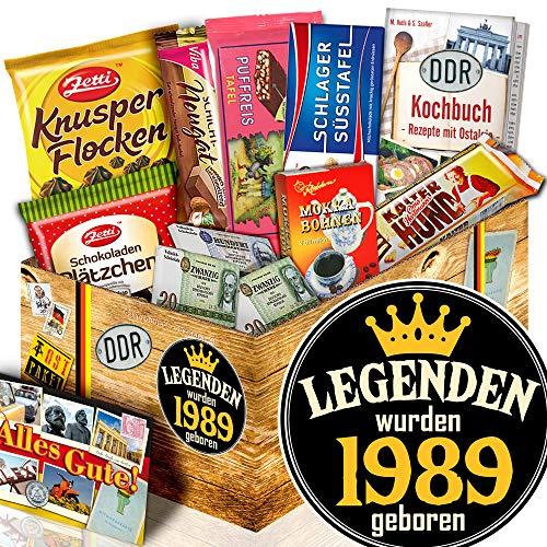 Legenden 1989 - Geschenke zum 30. Geburtstag Frau - DDR Schokoladen Set