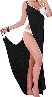 NStart Women's Sexy Greek Goddess Spaghetti Strap Sarong Swimwear Swimsuit Cover Up Beach Dresses (Black)
