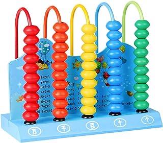 Ábaco Infantil de Madera Montessori Juguetes Educativos Abaco Mini Juego Matematicas Niños Ábacos Juguetes Aprendizaje par...