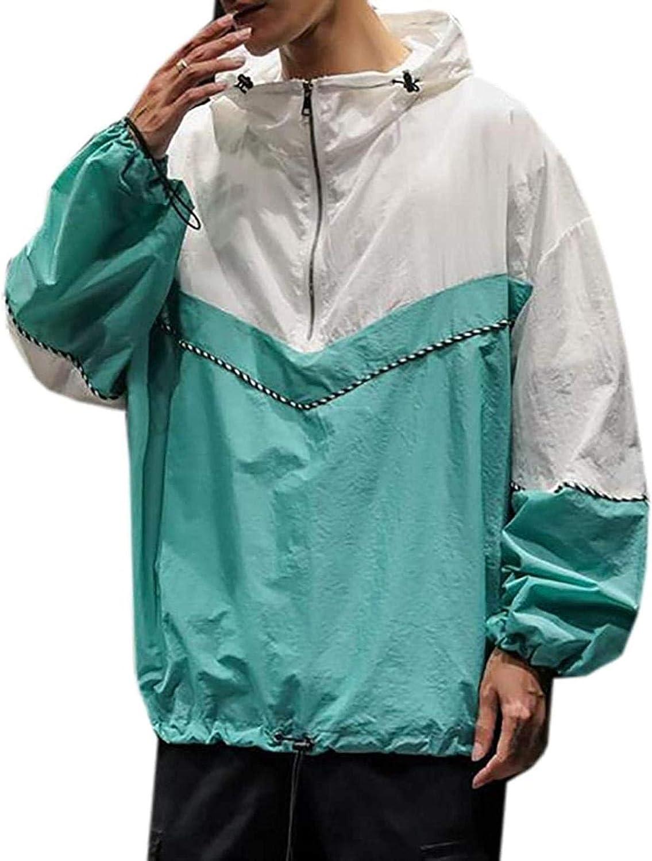 Men Slim Fit Pullover Mail order cheap Rare Waterproof Hooded Lightweight Windbreaker