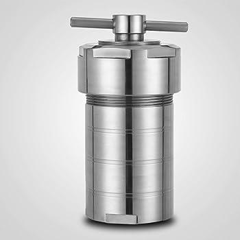 VEVOR 500mL Teflon Lined Hydrothermal Synthesis Autoclave,Acid Digestion Reactor,304 Steel High Pressure Digestion Tank,PTFE Vessel Acid and Alkali Resistance (500ml)