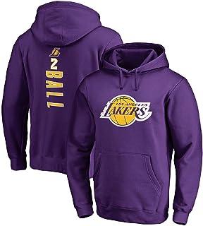Maglione con Cappuccio Pullover da Uomo Lakers da-Vis Felpa
