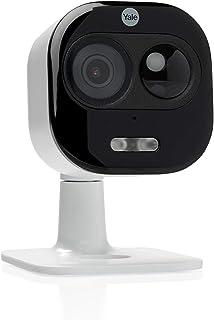 Yale SV-DAFX-W EU-Cámara All-in-1 para Interior y Exterior 1080P con WiFi Impermeable (IP65) Audio bidireccional detección de Movimiento Sirena integrada (Compatible con Amazon Alexa)