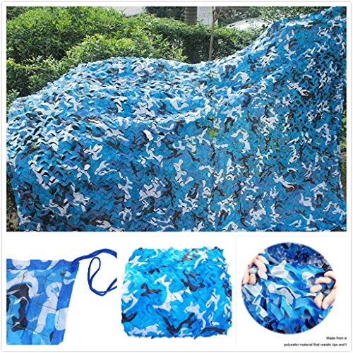 Army Net Camouflage Military Reinforced Blue Canopy for Hunting Camping Garden Gazebo Terrace Greenhouse Pergola Decoration 3x4m 6x8m 12m 10m Shade Sails Fabrics Sun Shade for Patio (Size : 3 * 3M)